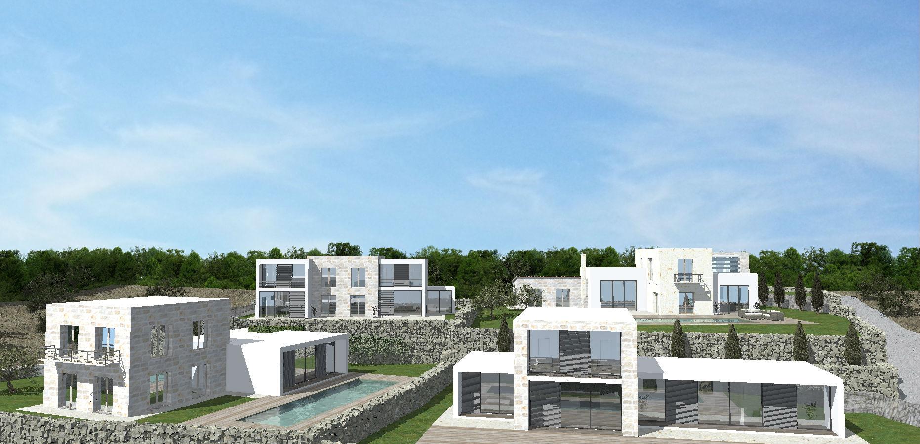 Moderne Villen am Meer