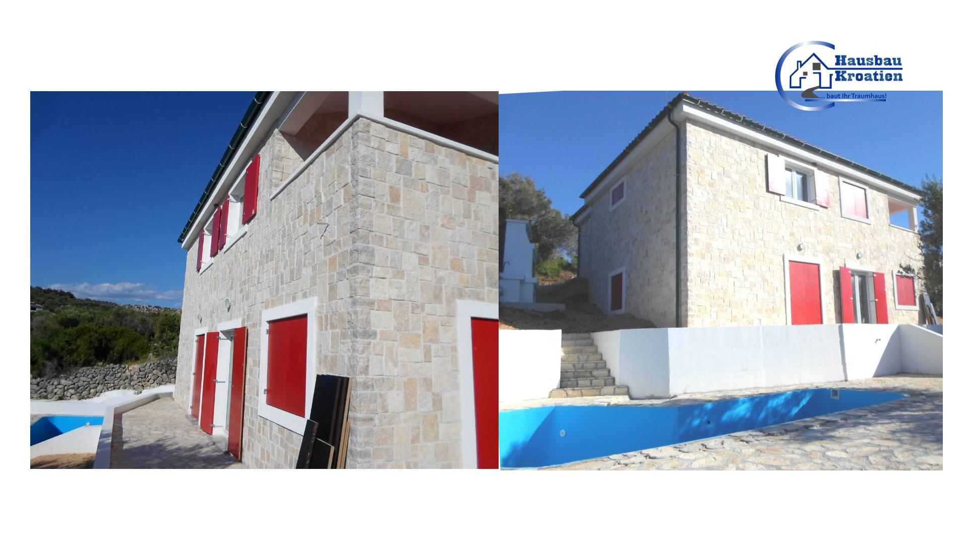 Neues Haus in Jakišnica Insel Pag – www.hausbau-kroatien.eu