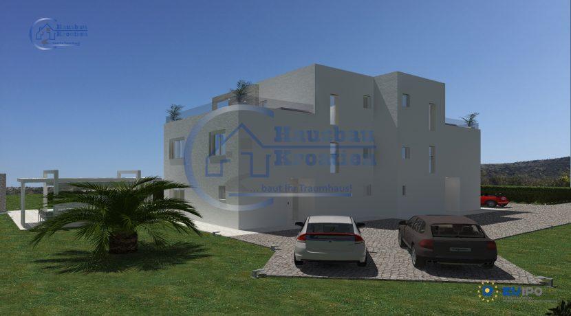 Hausbau Kroatien Doppelhaus Rosa (2)