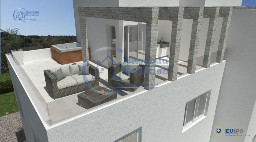 Hausbau Kroatien Doppelhaus Rosa (7)