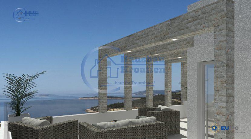 Hausbau Kroatien Doppelhaus Rosa (8)