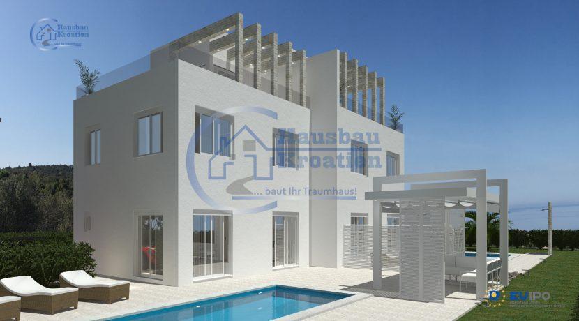 Hausbau Kroatien Doppelhaus Rosa (9)