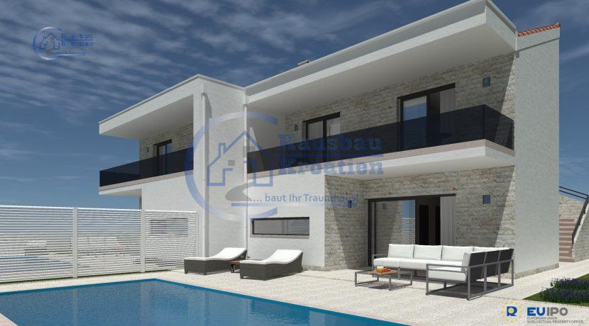HDausbau Kroatien doppelt villa mit Pool (2)