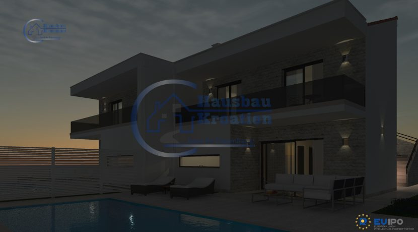 Hausbau Kroatien Doppelt Villa mit Pool (10)