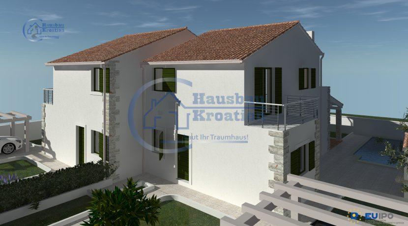 Hausbau Kroatien Doppelhaus (8)