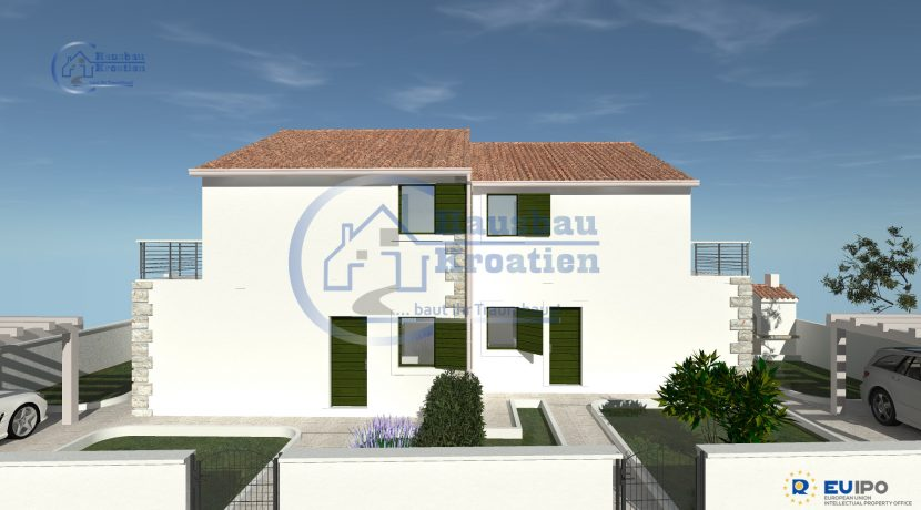 Hausbau Kroatien Doppelhaus (9)